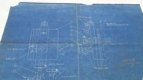 Antique Blueprint Industrial Art Detroit Automotive Ex-Cello Aircraft  1938 #2