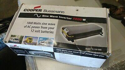 COOPER BUSSMANN 1800 Watt AC Power Inverter 12V semi truck 12-110-1800  1800 Watt 12v Inverter