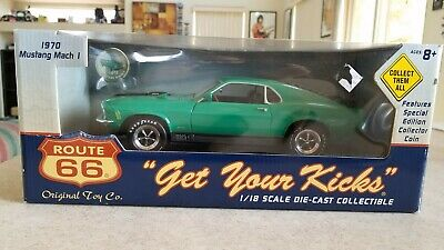 """""""Get Your Kicks"""" Route 66 1:18 Scale 1970 Ford Mustang Mach 1 Die-Cast RR's"""