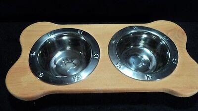 Raised - Small Dog - Dog Feeder (Water & Food Bowls)
