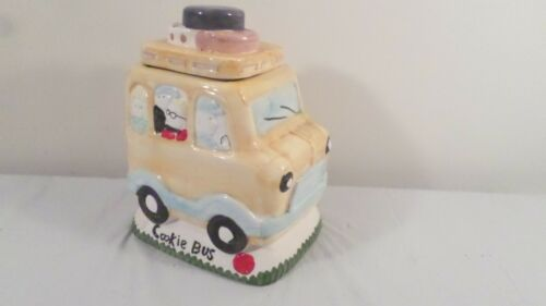 Ceramic School Bus Cookie Bus Cookie Jar