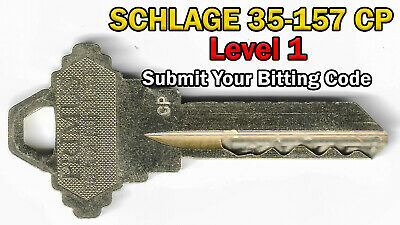 Schlage Primus Level 1 Code Cut Key 35-157-1001 Cp Submit Your Bitting Code