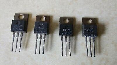 Lot 4pcs Tip31a Npn Power Transistor 3a 60v To-220 Nos