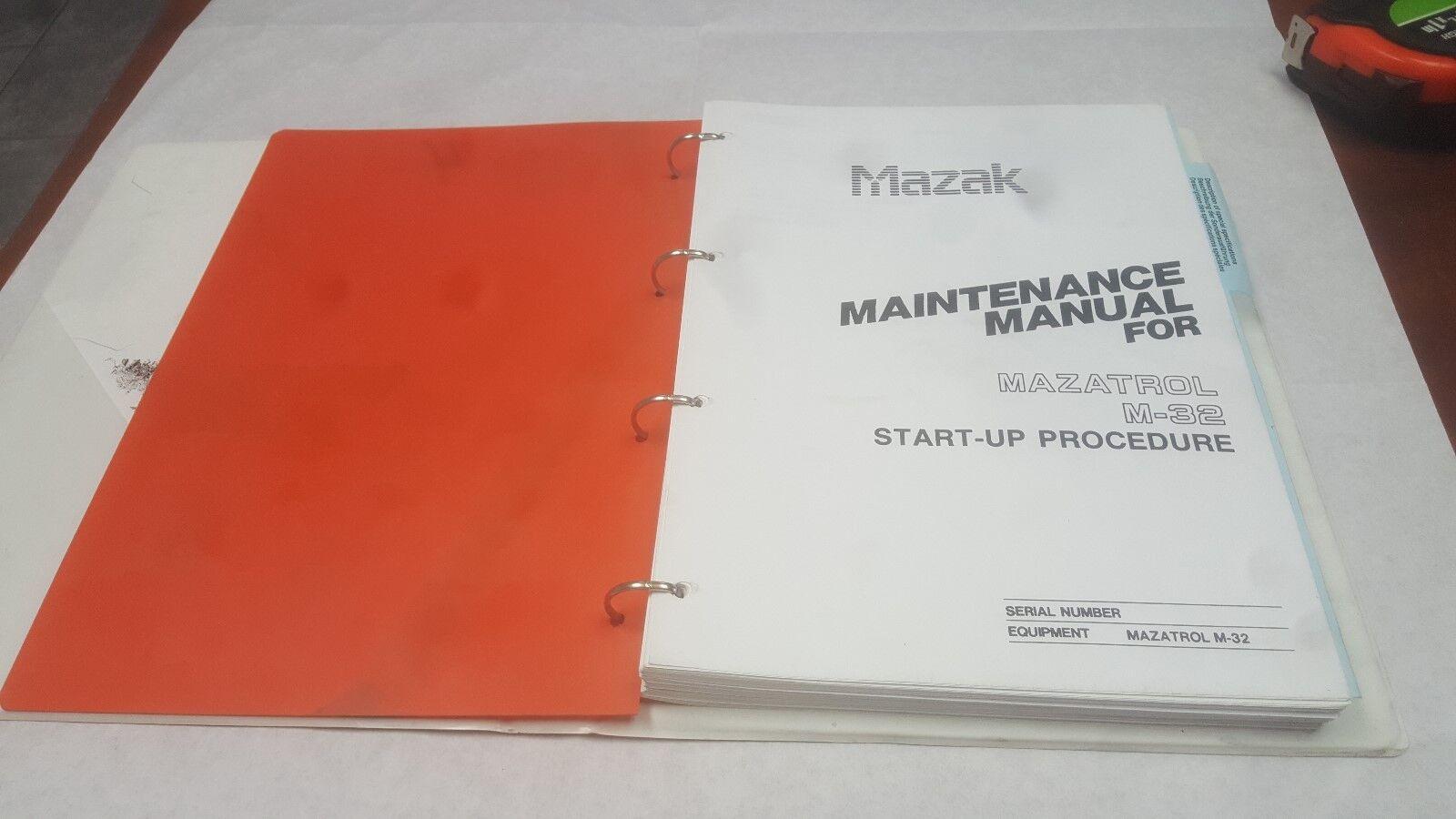 Mazak Operating Manual | Mazatrol M32 | M51 | Wundr-Shop