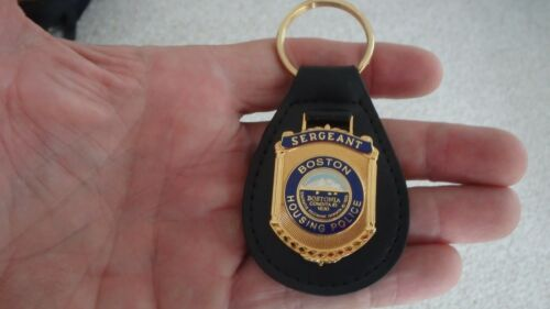 BOSTON HOUSING POLICE  SERGEANT  BOSTON POLICE KEY CHAIN  LEATHER BX 4 #8