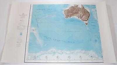 The World Australia Antarctica 1961 Vintage Original US Navy Hydrographic Map