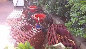 1 metal and 3 plastic Cray pots Grange Charles Sturt Area Preview