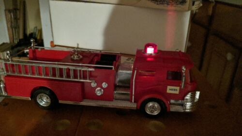 1970 MARX HESS FIRE TRUCK IN OB W/ INSTRUCTIONS NOS GORGEOUS & WORKING