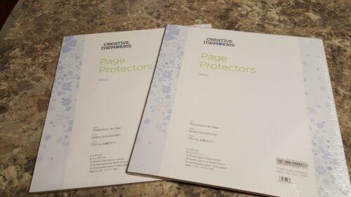Creative Memories 12 x 12 PAGE PROTECTORS - Set of 2-32 sheets