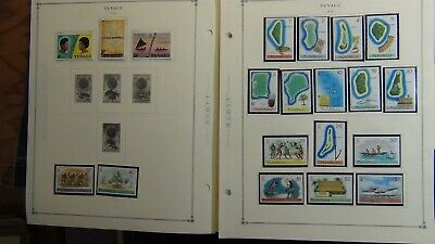 Tuvalu stamp collection on Scott Int'l pages to '79 w/est #69 or so