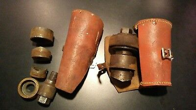 Lot Of 2 Vintage Greenlee Knockout Punch Sets With Original Leather Cases