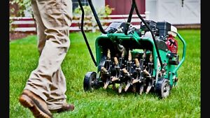 Lawn Aeration and Dethatching/Power Raking