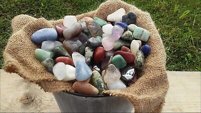 Tumbled Stones crystal 80+ natural mineral polished stone rocks