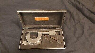 Starrett 230-1 0-1 Micrometer  Carbide Tips  .0001 Used