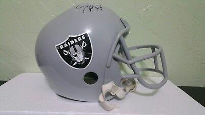 Oakland Raiders Autographed  FRANKLIN Youth  TOY  Replica Plastic Helmet  for sale  Arlington