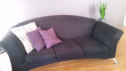 Charcoal 3 seater sofa / lounge chair & Black 2 seater sofa Atwell Cockburn Area Preview