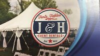 J and H Event Rentals - Tent table and chair rentals