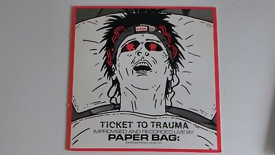 Paper Bag Ticket To Trauma 1987 SST Records LP - Paper Bag Tickets