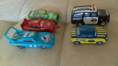 Disney Pixar Cars Diecast Rare Lot Finish Line Tongue Out Lightning McQueen 1:55