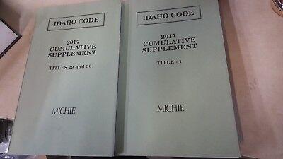 New Lexisnexis Idaho Code 2017 Cumulative Supplement Michie Titles 29 30 And 41