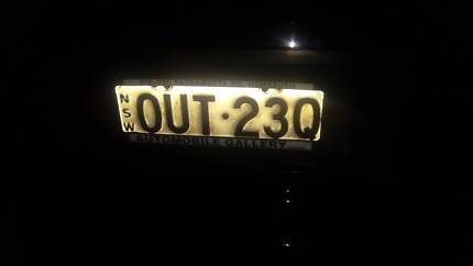 Number plates OUT-23Q