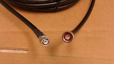 Andrews LMR-400 25 FT BNC Male / N Male Coax Cable CB,HAM,Scanner Antenna Cable