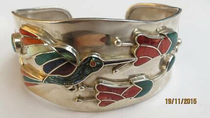 Peruvian '950' silver bangle