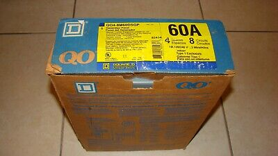 Square D Qo4-8m60dsgp Indoor Generator Panel 60a 4 Spaces 8 Circuits