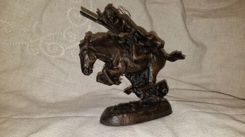 "Frederick Remington The Cheyenne Bronze Sculpture 8"" no base lost wax NEW DRC47"