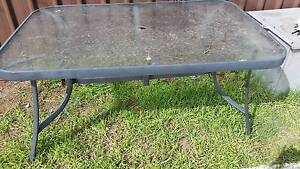 Outdoor Table - glass top Werrington Downs Penrith Area Preview