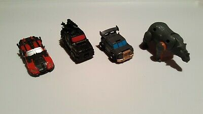 Modern Transformers Figures x4 - Cars, Rhino etc... -  Good Shape