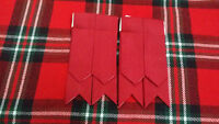 Tc Hombre Kilt Calcetines Bandas Liso Rojo Tartán / Escocés Hose -  - ebay.es