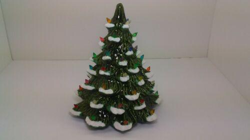 "Vintage Ceramic Christmas Tree 11 inches Tall ""No Base"""