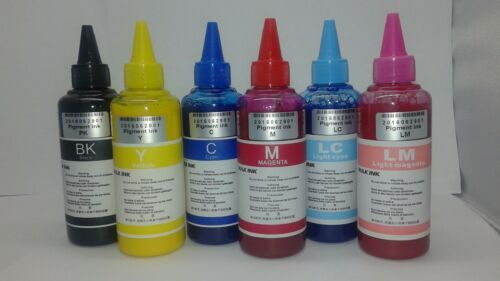 600ml Pigment Bulk Refill Ink for Epson Compatible 1400 1430 50 R280 290 595 USA