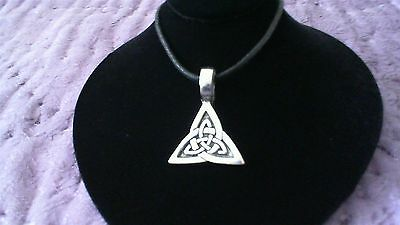 Celtic Knot Triangle Pewter Pendant Charm Necklace! New Triquetra Trinity Irish