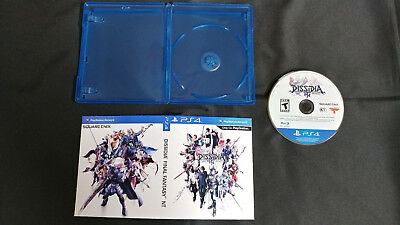 Dissidia Final Fantasy Nt  Game Disc Only   Free Generic Blu Ray Case  Hq Art