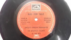 JAGJIT-SINGH-talents-promo-copy-rare-SINGLE-7-45RPM-INDIA-INDIAN-139-VG