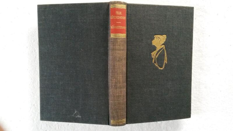 """Buch """"Sühnetermin"""" von Felix Lützkendorf, Roman, 1960"""