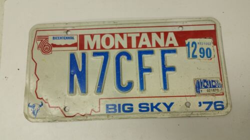 1990 MONTANA Big Sky Bicentennial License Plate N7CFF
