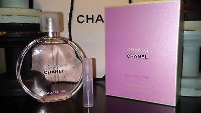 Authentic Chanel Chance Eau Tendre Eau de Toilette Large Sample 2ml Buy 2 1 Free