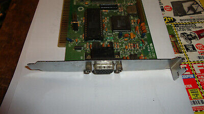 Trident TVGA8900D-R 1Mb 16-Bit 15-Pin D-Sub ISA Video Graphic Adapter