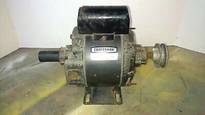 Sears Craftsman General Purpose Motor 12 H.p. Capacitor 113.12130 Dual Shaft