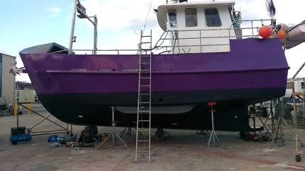 Cray shark fishing boat