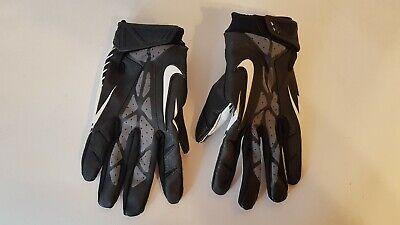 Nike Football Gloves Black And White Extra Large used. B2
