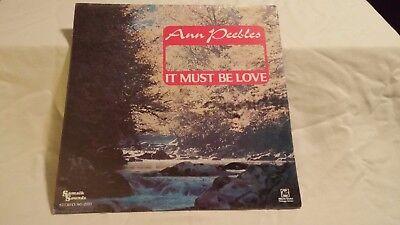 Ann Peebles  It Must Be Love  Sealed Vinyl Lp  Rare Tax Scam Oddity  Album Globe