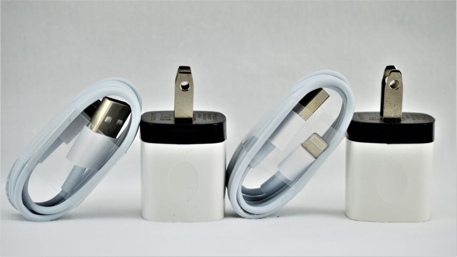 Iphone 5 Charger - New 2 Pack FOR Apple IPhone 5 5s 6 and 7 AC Wall Charger & Charging Cable