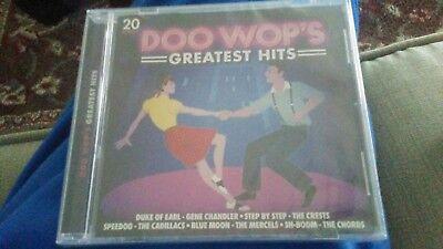 DOO WOP'S GREATEST HITS 20 SONGS CD BRAND NEW