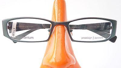Pro Design Titan Brille Brillenfassung grün leicht Damen schmale Glasform Gr M