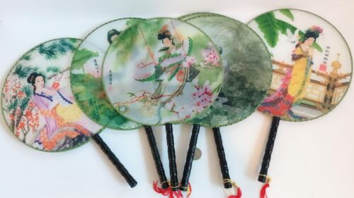 SET of 10 NEW Chinese VINTAGE SET  ORIENTAL HAND FANS free shipping