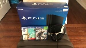 1TB PS4 PRO BUNDLE WITH GAMES & HEADSET!